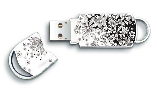 Integral Xpression 8GB USB 2.0 Flash Drive - Flowers