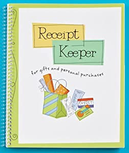receipt keeper monthly personal organizer