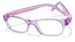 Vincent Chase Flex VC 8027 Purple Transparent Purple Pink C5 Kids' Eyeglasses (Kids 1-5 yrs)