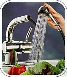 Great Discount Shop For Aquatouch Aqua Touch Gold Kitchen Faucet With Pullout Spout Spray