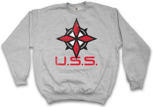 UMBRELLA SECURITY SERVICE LOGO PULLOVER SWEATER SWEATSHIRT MAGLIONE - Resident Corporation Nemesis Game Wesker Corp Evil Taglie S - 5XL