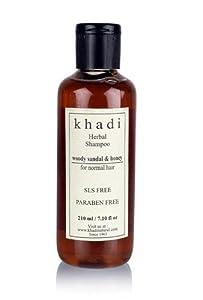 Khadi Woody Sandal & Honey Herbal Shampoo - SLS & Paraben Free - 210 ml