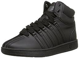 K-SWISS Classic VN Mid Sneaker (Infant/Toddler/Little Kid/Big Kid), Black/Black, 3 M US Infant