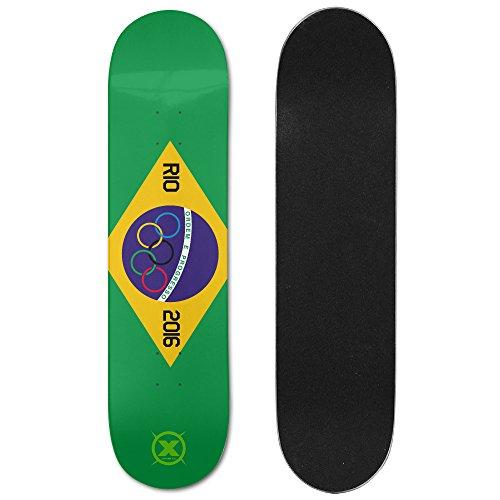 X-sports 2016 Brazil Rio Olympics Summer Sports Meeting Ultimate Sports Double Slide Skateboard Deck / Board