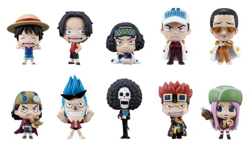 Bandai Tamashii Nations One Piece Deform Master Petite Toy Figures, Set of 10, Volume#3