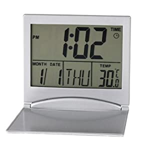 Mini Ultrathin Portable Digital LCD Thermometer Calendar Desk Alarm Clock