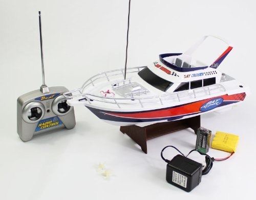 1:28 Scale (White) Full Function 3-channel Radio Control Racing Boat Vessel Model W/ Rechargeable Batteries with Mini Tool Box (fs)