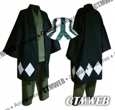 CTMWEB Japanese Anime Bleach Cosplay Costume - Kisuke Urahara Set with Hat, Large