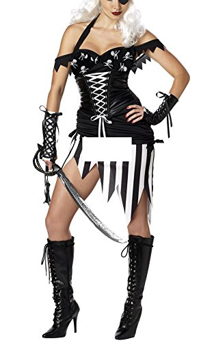 Lasexy Women Sexy Pirate Lingerie Halloween Cosplay Costume Clubwear Dress