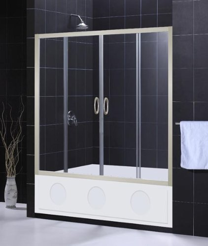 DreamLine Showers: Aqua Tub Door Clear Glass. Frameless Bathtub Door.