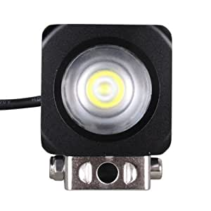 """MicTuning 10 Watts Cree LED Car Driving Light Working Lamp Flood High Power Off Road Fog Light 2"""" 6500kd Working Driving Lamp 2600Lm"""