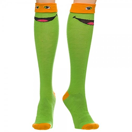 Teenage Mutant Ninja Turtles TMNT MICHELANGELO (Orange Mask) Knee-High SOCKS