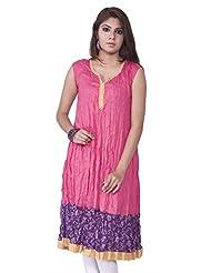 Rucchi By Praveen Women's Cotton-Rayon Purple Kurti
