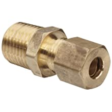 Anderson Metals Brass Tube Fitting, Connector, Compression x NPT Male