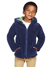 Hooded Zip Through Fleece Jacket