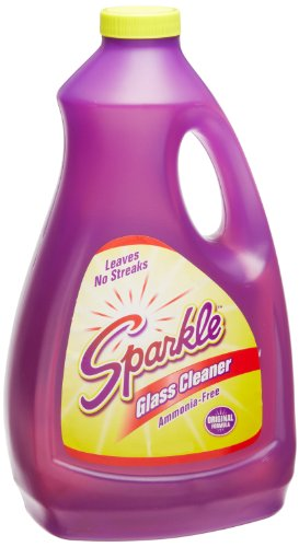 A J Funk & Co 20967 Sparkle Glass Cleaner, Original Purple Formula, 67.6-Ounce Refill Bottle (Case Of 6)