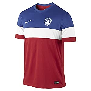 USA Away soccer jersey, World Cup 2014 with official names (XL, No name)