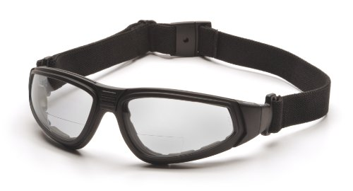 Pyramex Xsg Readers Safety Eyewear Clear Anti-Fog +2.5 Lens With Black Strap/Temples
