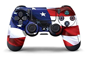 PS4 Controller Designer Skin for Sony PlayStation 4 DualShock Wireless Controller - Stars & Stripes