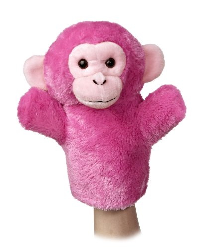 "Aurora World Sleeve Chimp Plush Puppet, 10"" Tall - 1"