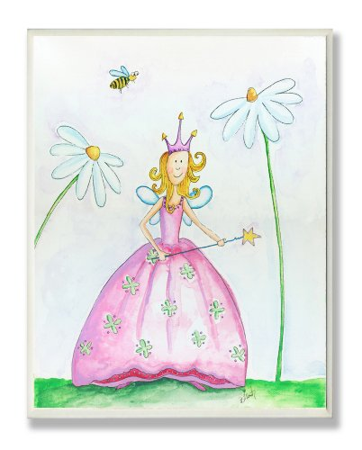 The Kids Room by Stupell Fairy Princess Among Daisies Rectangle Wall Plaque
