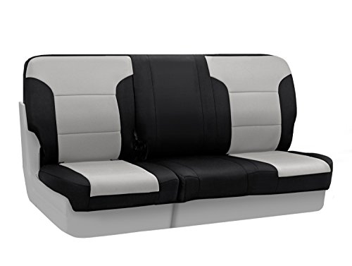 Coverking Custom Fit Center 60/40 Bench Seat Cover for Select Toyota Sequoia Models - Neosupreme (Gray with Black Sides) (2001 Toyota Sequoia Armrest Cover compare prices)