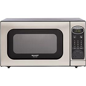 Sharp R-405KS 1.4-Cubic Feet 1100-Watt Microwave Oven, Stainless Steel