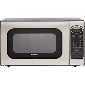Sharp R-405KS 1.4-Cubic Feet 1100-Watt Microwave Oven, Stainless Steel
