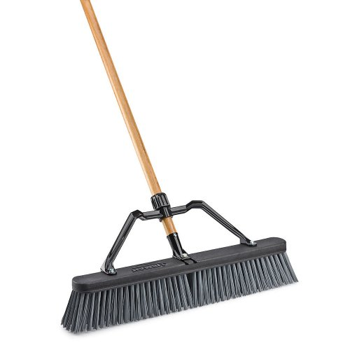 LIBMAN 829 Push Broom with Hard Polymer Support Brace, 24