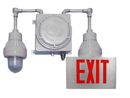 Class 1 Division 1 Exit Sign Emergency Lights Combo, Hzexc-C1-D1, Completely Self-Contained And Weather Resistant Attractive Brilliant And Powerful Exit Illumination