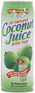 Amy & Brian Natural Coconut Juice with Pulp, 17.5 Ounce (Pack of 12)