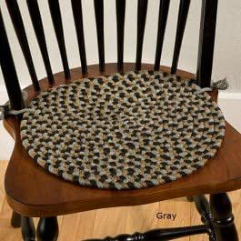 Sturbridge Braided Chair Pad Gray Chair Pad Home Kitchen