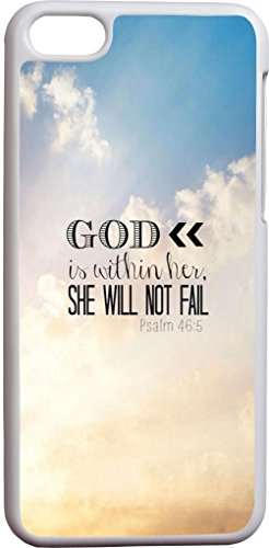 Psalm 46:5 God Is Within Her Whe Will Not Fail Beautiful Sky Christian Bible Verses Quotes Theme Pattern Print Protector Cover Sleeve Cases For Apple Iphone 5C front-770500