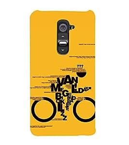 Van Me Cycle 3D Hard Polycarbonate Designer Back Case Cover for LG G2 :: LG G2 D800 D980
