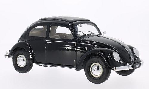 VW-Kfer-Brezelfenster-schwarz-Modellauto-Fertigmodell-Welly-118