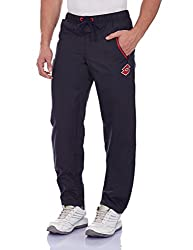 Lotto Men's Synthetic Track Pants (8903264311139_F1510402_Medium_Navy and Red)