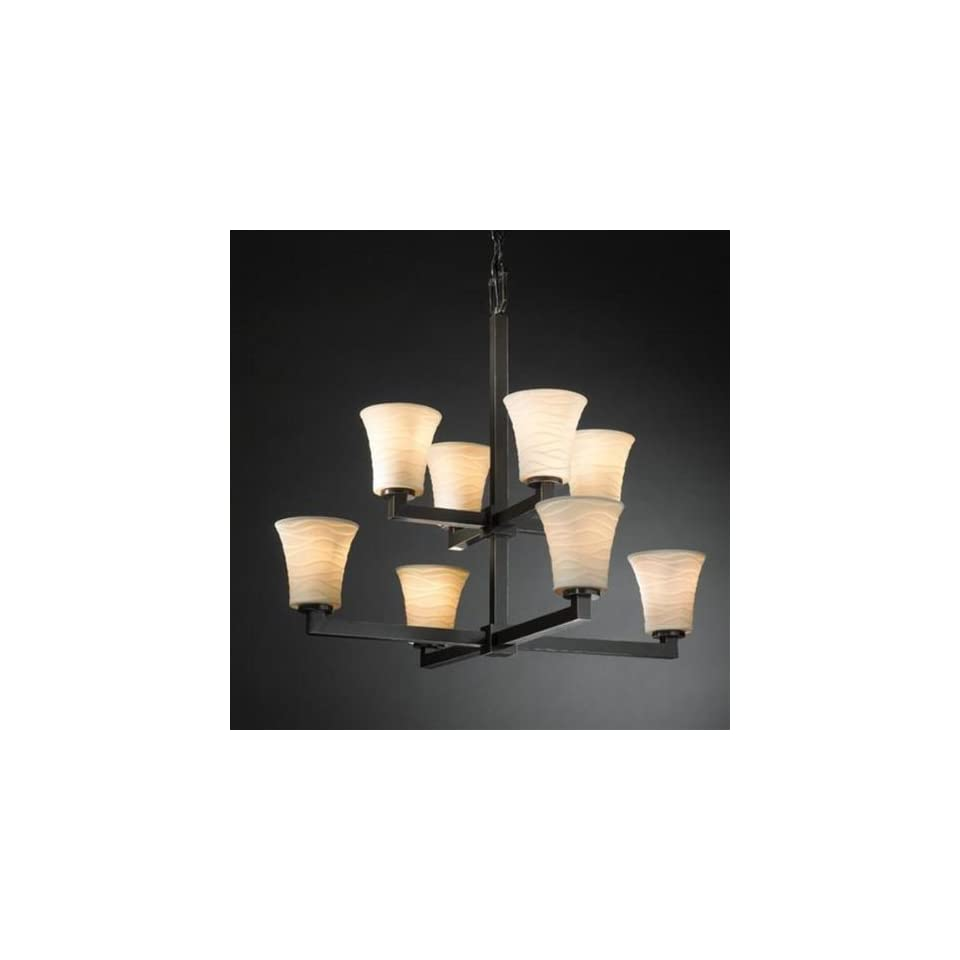 Justice Design Group POR 8828 20 8 Light Limoges Modular TwoTier Chandelier