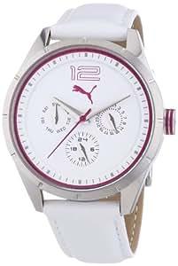 Puma Time Damen-Armbanduhr Driver Multifunction- S Silver Analog Quarz Leder PU102622001