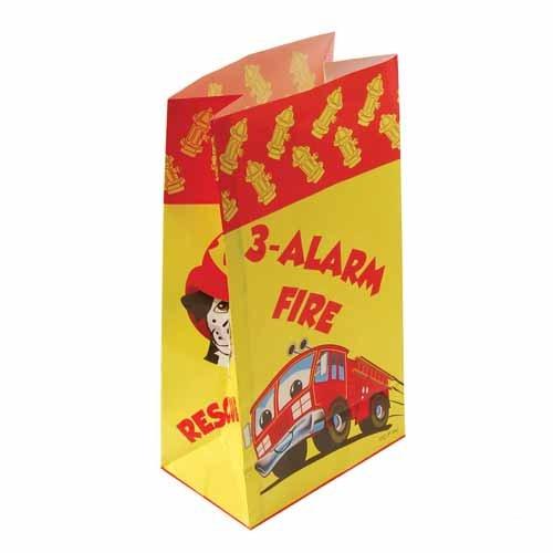 Dozen Firefighter Paper Favor Bags