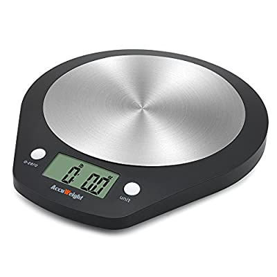 Accuweight Digital Kitchen Scale, 11lb/5kg Stainless Steel Electronic Food Scale AW-KS003
