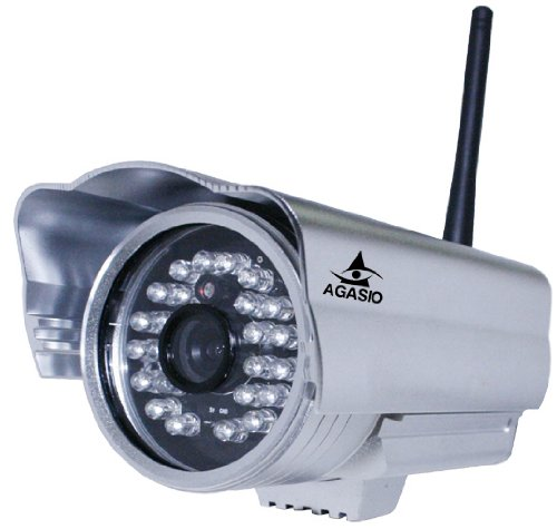 Best Price! Agasio A602W Outdoor Wireless IP Camera with IR-Cut Off Filter for TRUE COLOR Images (No...