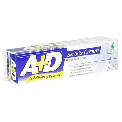 A & D Diaper Rash Cream Zinc Oxdie 4 oz.