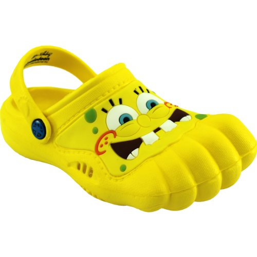 Spongebob Kids Yellow Silly Feet Clogs 01068 (2/3 M US Little Kid)