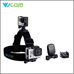 WoCase GoPro HERO4/3+ 360 Degree Panoramic Swiveling Detachable Duo Mount Adjustable Head Strap Mount (2 Camera mounts) with Camera Clip Mount and Quick Release Mount for GoPro HERO4 HERO3+ 3 2 1 Cameras (Rotary Mount, Retail Package, Gifting Ready)