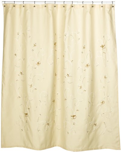 Croscill Azzuro Embroidered Shower Curtain, Butter - Shower ...