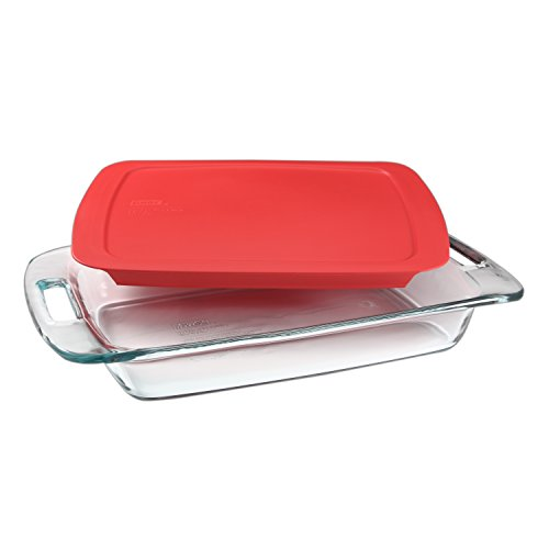 Pyrex Portable Set, Includes 1 Ea 3 Qt Easy Grab Oblong, RedCover, Large  Unipack