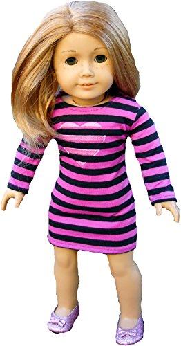 Purple 18 Inch Doll Dress