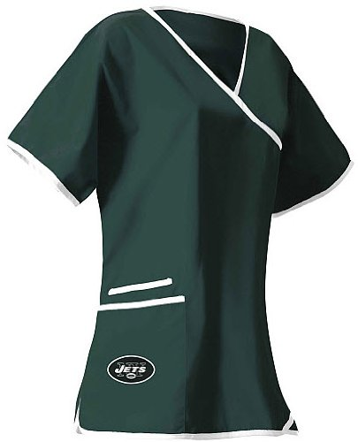 New York Jets Women's Scrub Top at Amazon.com