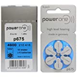 POWERONE POWER ONE P675 HEARING AID BATTERY 6X50 300 Pcs