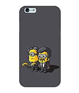 printtech Minions Pulp Fiction Back Case Cover for Apple iPhone 6S